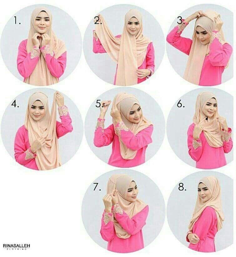 Nice hijab tutorial.