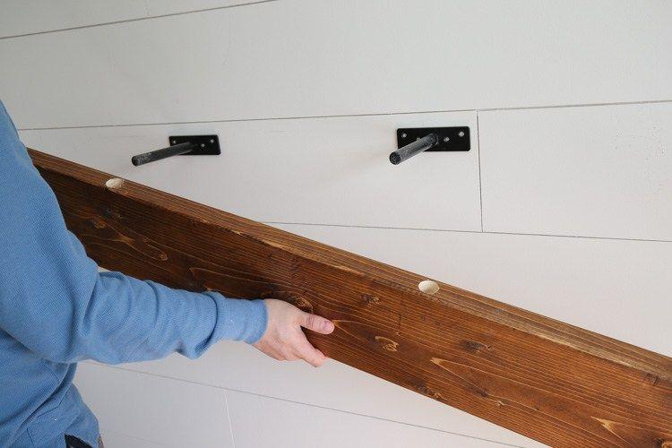 Easy Diy Floating Shelf With Brackets Angela Marie Made Floating Shelves Diy Long Floating Shelves Wood