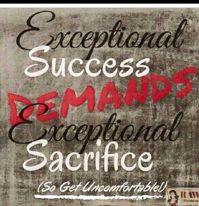 Success demands Sacrifice | Powerful words, Words, Words of wisdom