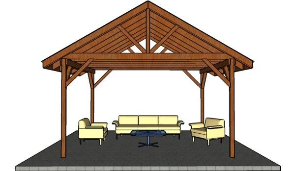 open air carport plans wooden picnic shelter plans free gazebo plans pinterest