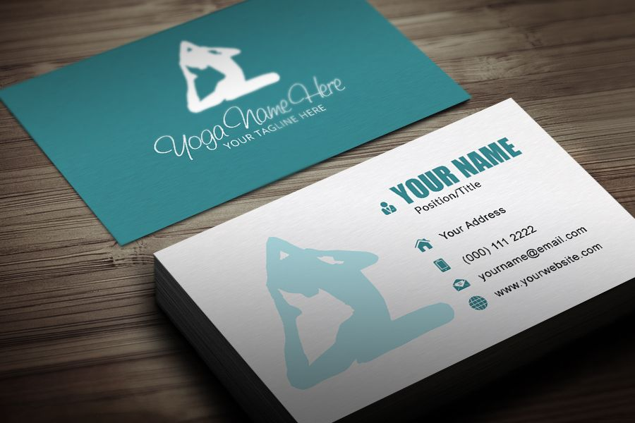 YOGA BUSINESS CARD TEMPLATE | Yoga business | Pinterest | Yoga ...