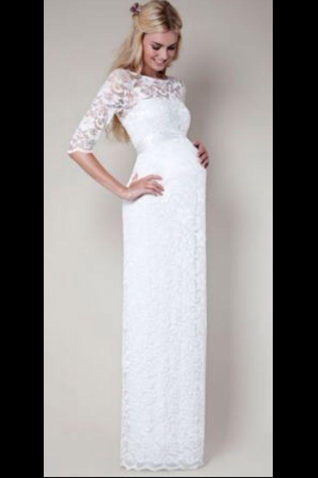 comprar popular varios estilos tienda del reino unido Vestido blanco | Boda | Vestidos de novia embarazada ...