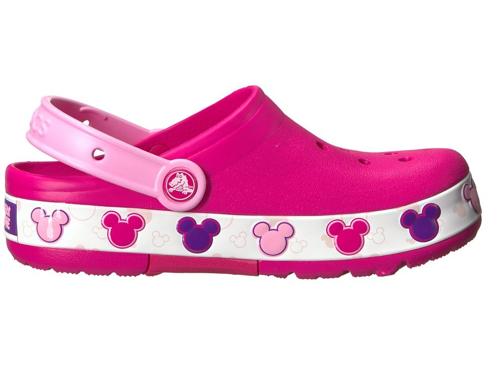 2787b3e7bd1330 Crocs Kids Crocband Mickey Fun Lab Lights Clog (Toddler Little Kid) Kids  Shoes Candy Pink