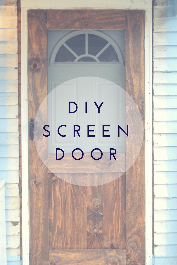 Easy Diy Farmhouse Screen Door Tutorial Wooden Screen Door Wooden