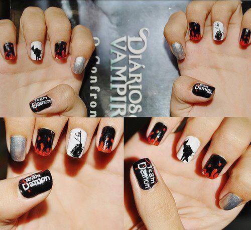 32 the vampire diaries nail art ideas nails pinterest 32 the vampire diaries nail art ideas prinsesfo Choice Image