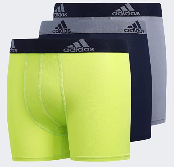 Athletic-Underwear 3-Pack adidas Sport Performance Climalite Boxer Briefs Underwear