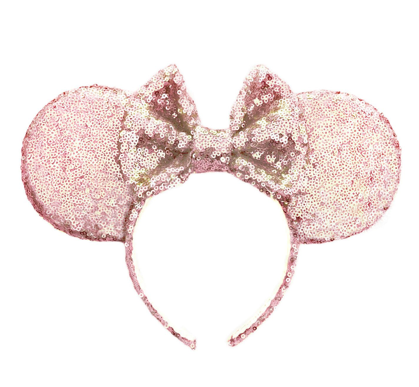 Rose Gold Ears, Sequin Ears, Minnie Ears, Rose Gold Mouse Ears, Sequin