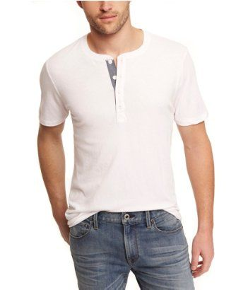 SHORT SLEEVE HENLEY TEE | Express