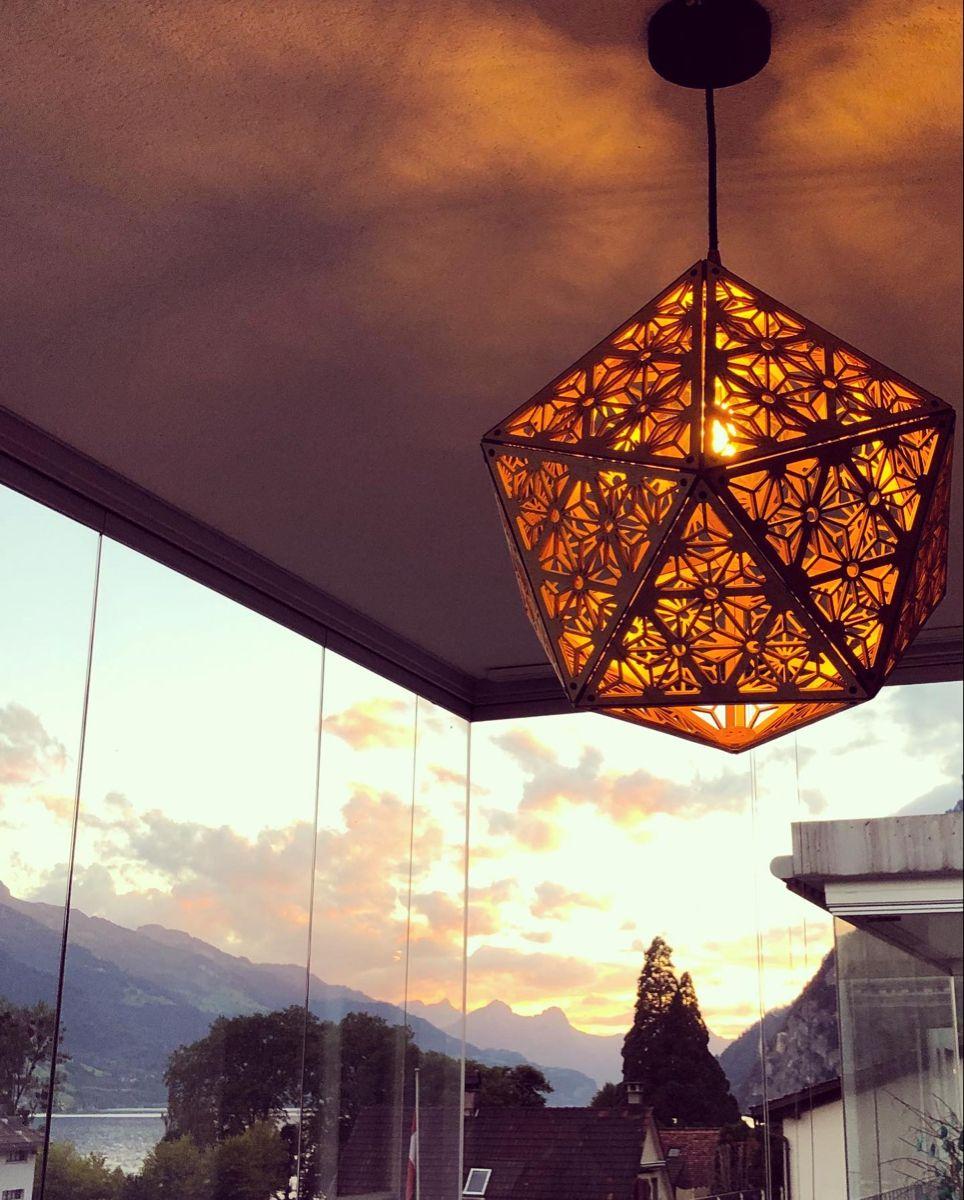 Ikosaeder Lampe In 2020 Lampen Lampe