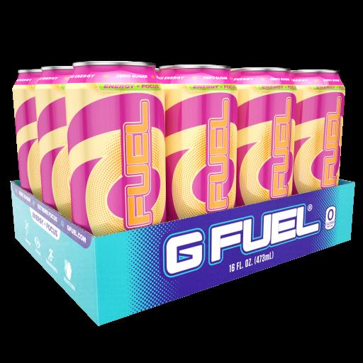 12 Cans G Fuel Rainbow Sherbet Sugar Free Energy Drink 16 Fl Oz Walmart Com Sugar Free Energy Drinks Energy Drinks Rainbow Sherbet