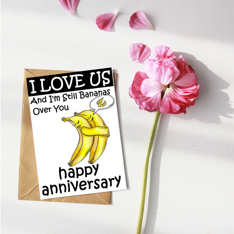 Bananas Over You Anniversary Card Anniversary Cards For Husband Anniversary Cards Romantic Cards