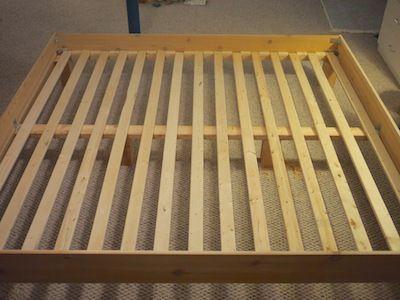 Build Your Own King Slat Bed For 150 Bed Slats Diy King Bed