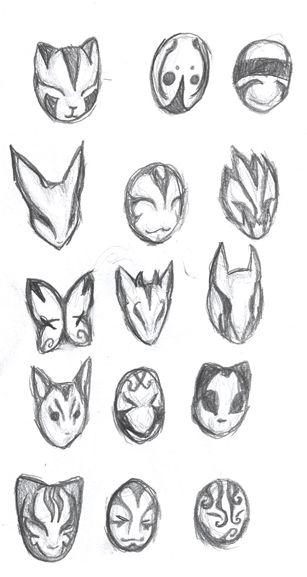 ANBU Masks by Ansemaru on DeviantArt