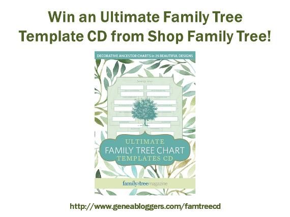 Win an Ultimate Family Tree Chart Templates CD from Shop Family Tree