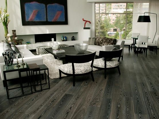 Elegant Living Room With Grey Laminate Flooring Vinyl Plank | Flooring .