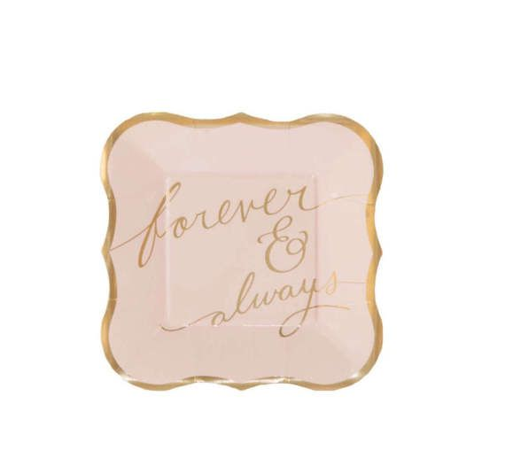 Wedding Paper Plates Pkg 8 Love Engagement Plates Cake Plate Wedding cake plates Bridal Shower Reception Cocktail Engagement Party  sc 1 st  Pinterest & Wedding Paper Plates Pkg 8 Love Engagement Plates Cake Plate ...
