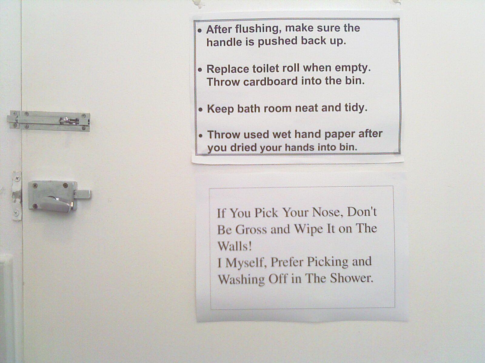 Bathroom Etiquette Signs For Office bathroom sign off sheet cleaning | pinterdor | pinterest