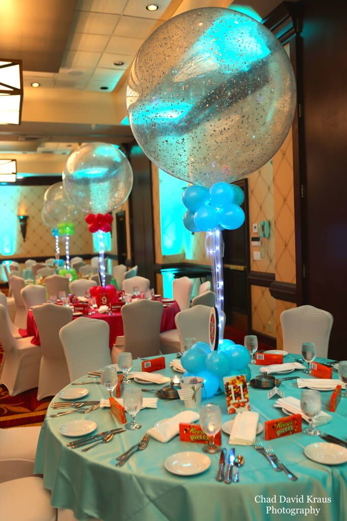 Sparkle Balloon Centerpieces Hot Pink Lime Amp Turquoise