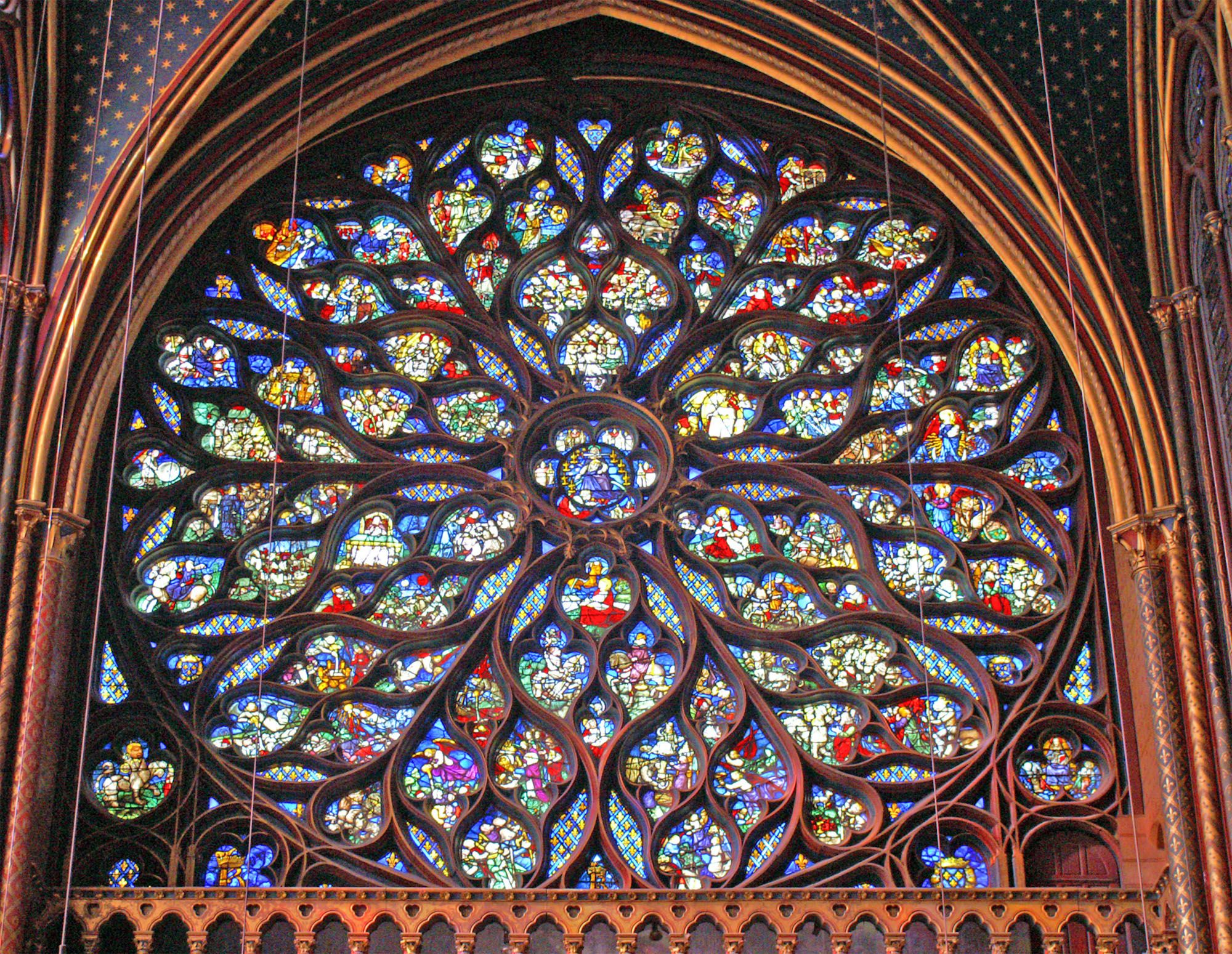 A Lost Art Rose Window Paris France And France