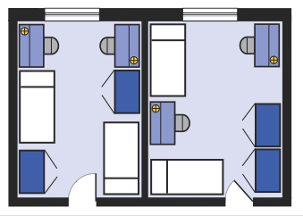 Tour Ridgeway Omega University Residences Wwu Dorm Layout Student Apartment University Dorms