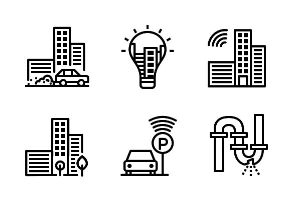 Smart City Vol 2 Icons By Chamestudio Pvt Ltd Smart City City Icon Smart