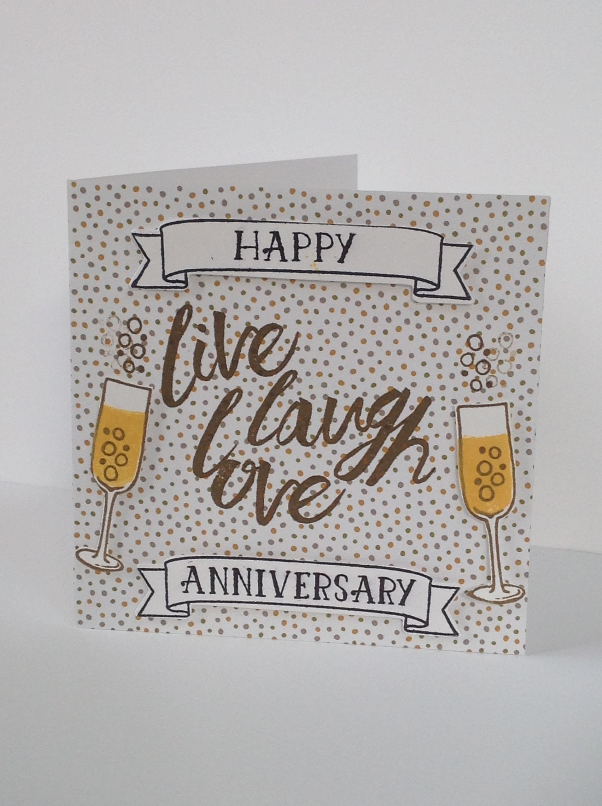 Anniversary card - using Stampin\' Up! Products Serene scenery DSP ...