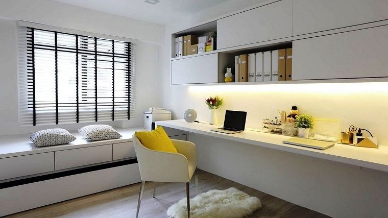 Ufficio Elegante Lungi : Resultado de imagen para escritorio de oficina blanca elegante