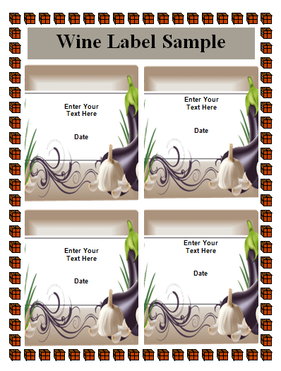 21 wine label templates word excel pdf templates www