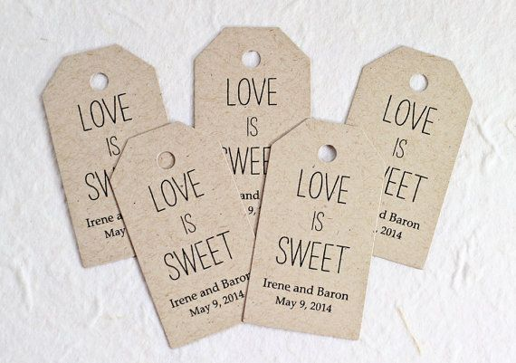 Personalized wedding shower gift tags