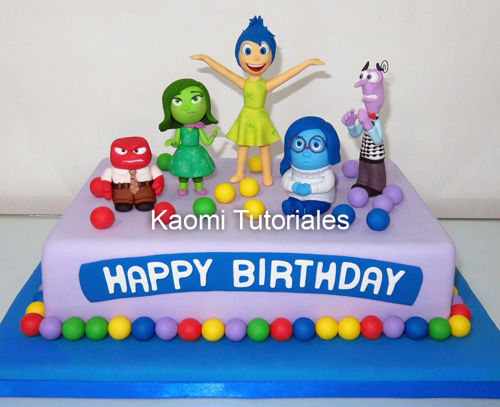 Kaomi Tutoriales: Intensa Mente figuras para torta / Inside Out Cake ...