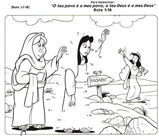 Coloring Pages For Children On The Story Of Ruth And Naomi Poshuk