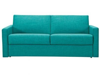 Sof cama italiano 3 plazas orane tela waterproof azul - Sofa azul turquesa ...