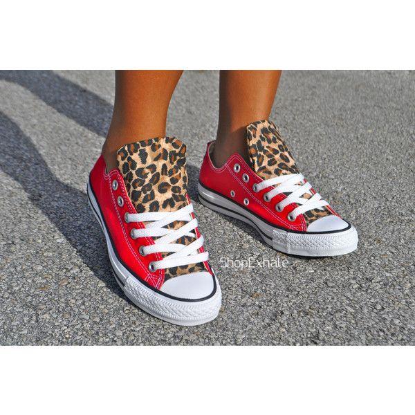 91fc46e43ade Hot Cheetos- Cheetah Converse (155 CAD) ❤ liked on Polyvore ...
