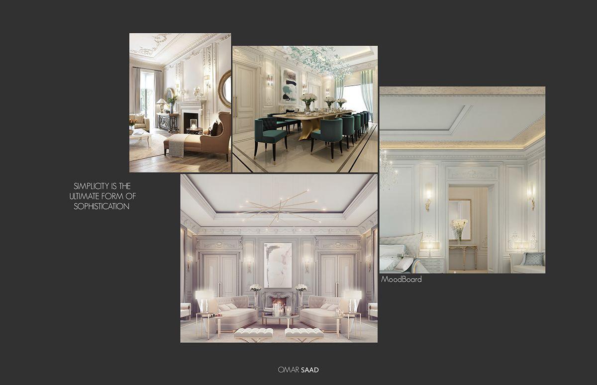 Luxury Classic Villa Interior Design On Behance Interior Design Career Interior Design Programs Interior Design
