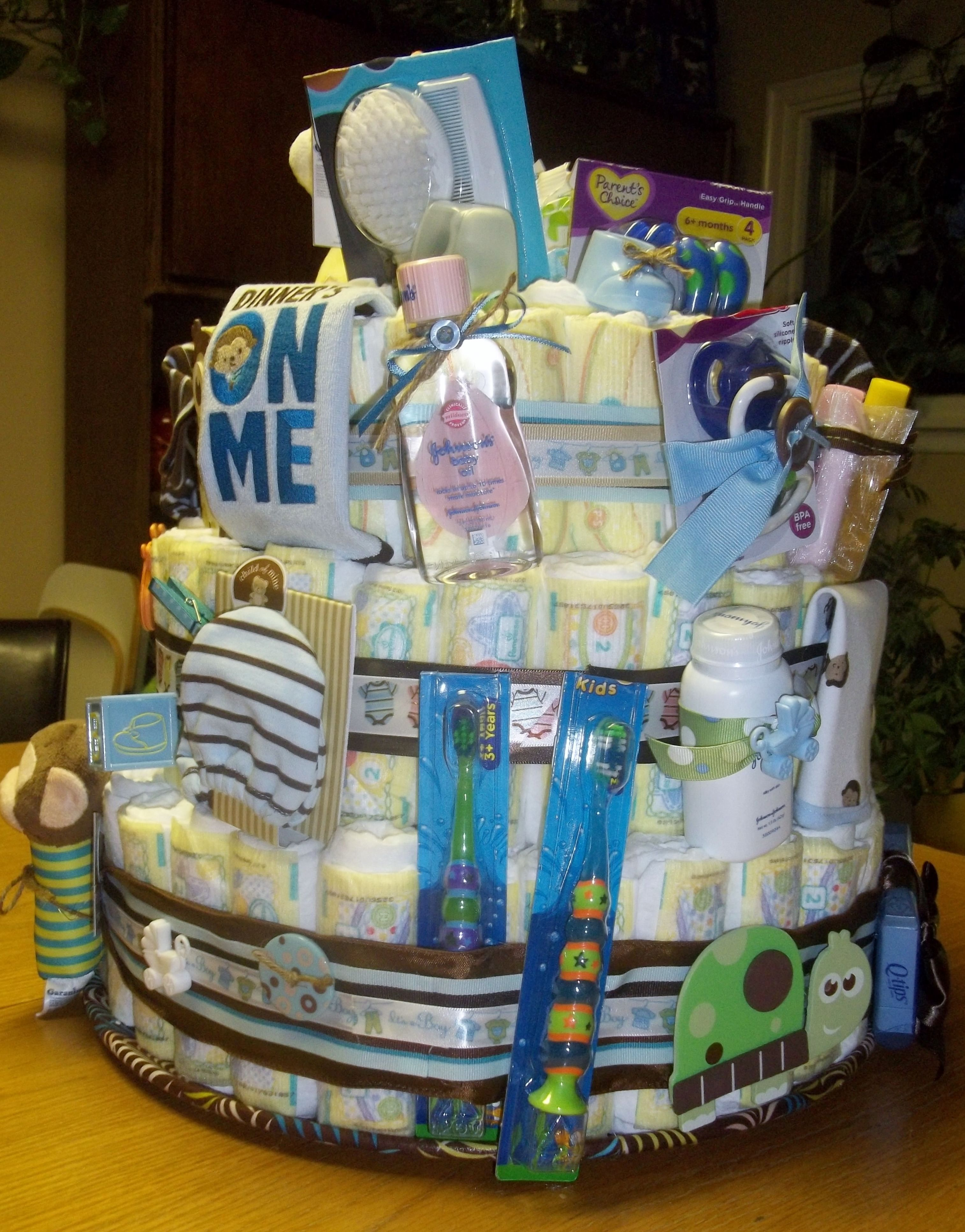 Another view of the diaper cake diaper cake baby gifts