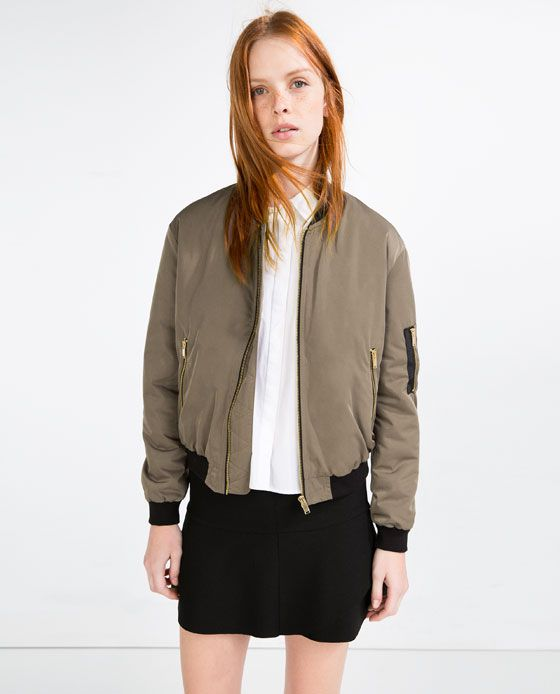 7e1a27ab4036 Image 1 of QUILTED BOMBER JACKET from Zara