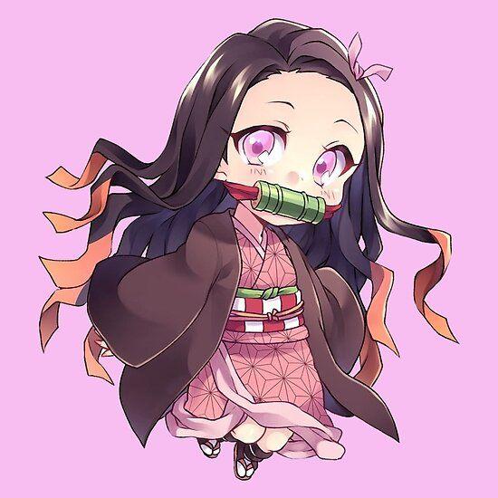 Kimetsu No Yaiba Nezuko Waifu Chibi Sticker By Xiaokoong Anime Phim Hoạt Hinh Dễ Thương