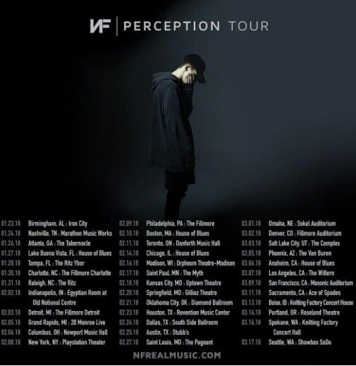 Nf Perception Tour 2018 With Images Nf Real Music Music