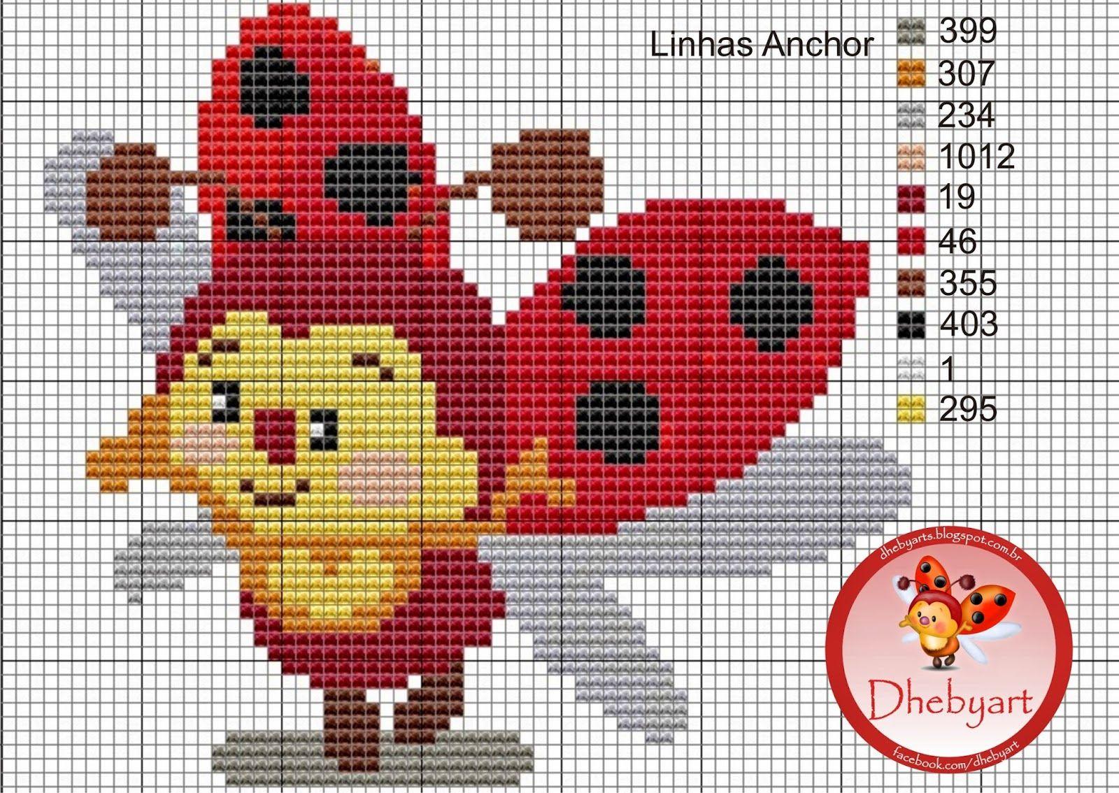dheby art: Minha Joaninha | graficos diversos ponto cruz | Pinterest ...