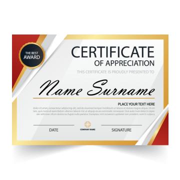certificate template vector diploma award achievement design