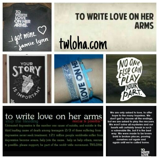 To write love on her arms. Be a part of something that matters. #inspiration #twloha #yourstory -jt