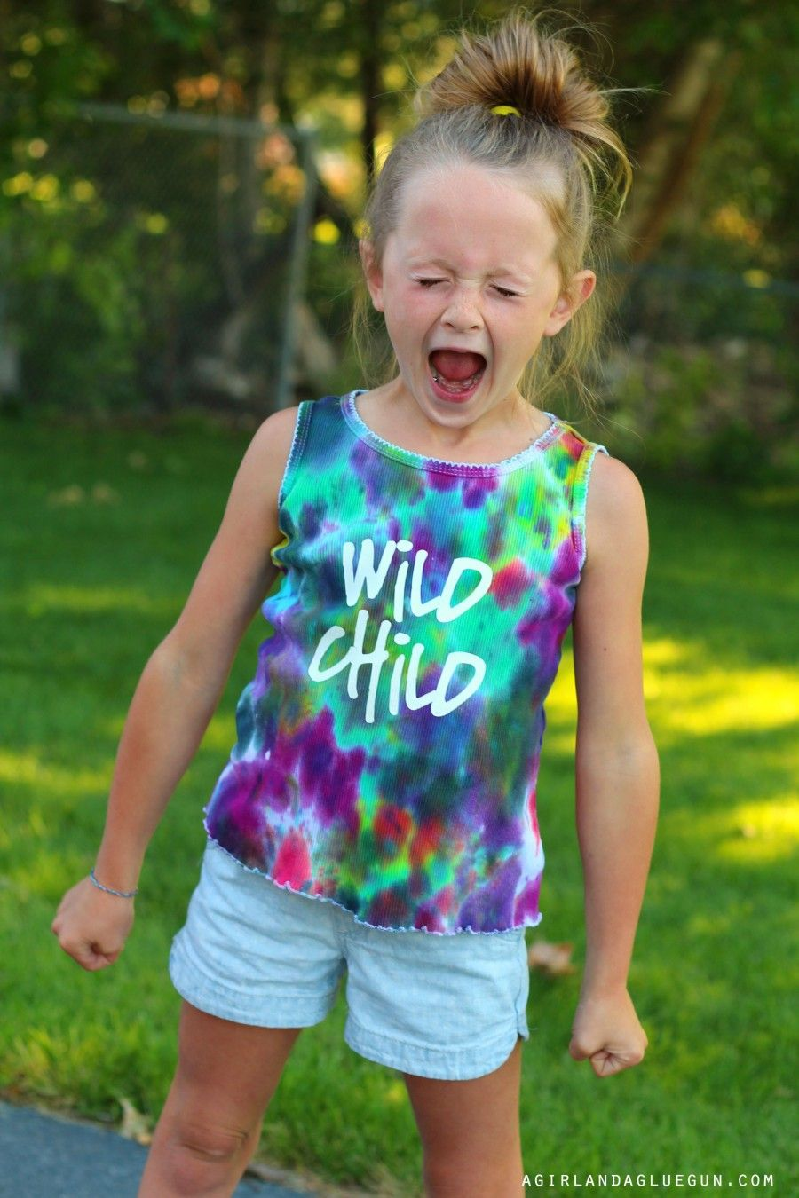 1c2f7921076f4f tie dye shirts updated with heat transfer material   the Silhouette CAMEO -  A girl and a glue gun