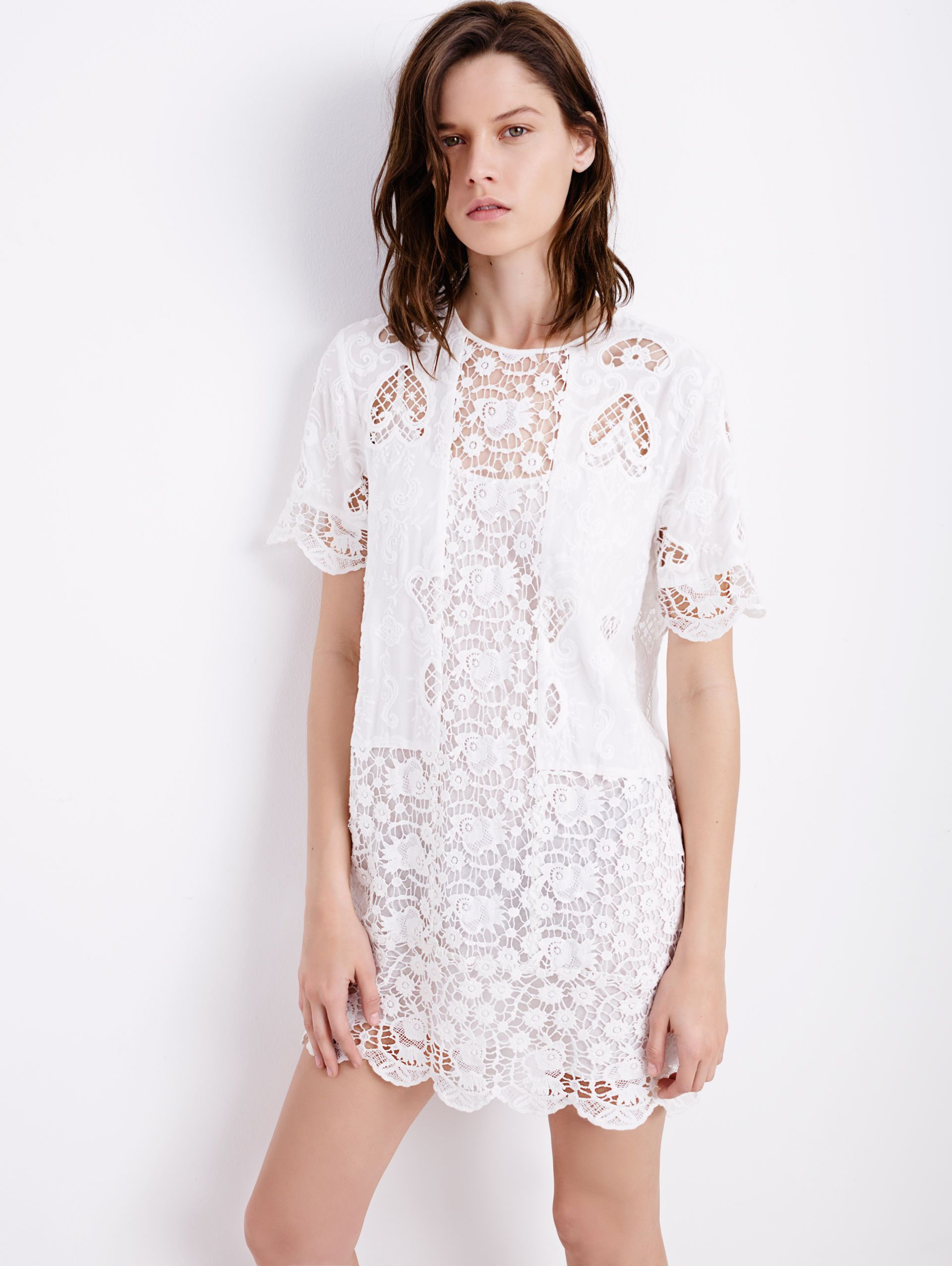 a8a27af59f Time to wear #Whit! Try this Lace Dress, $129 from Zara ...