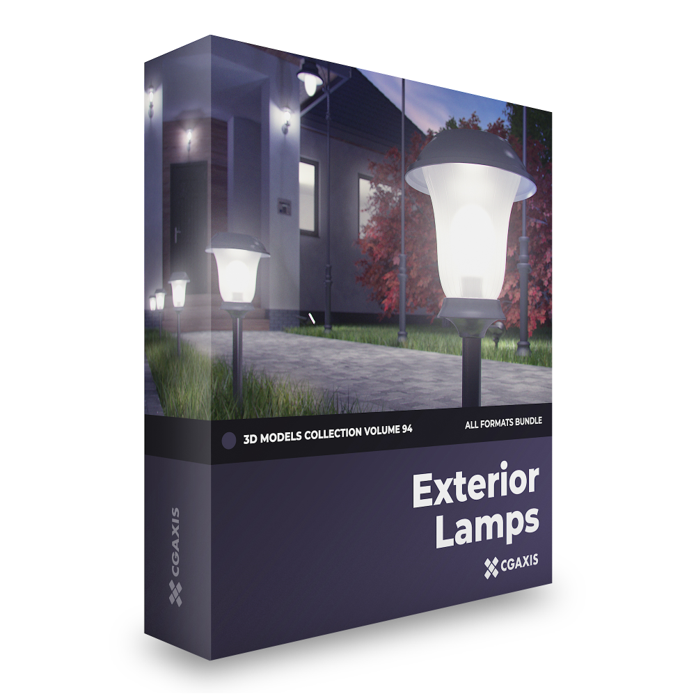 Exterior Lamps 3D Models Collection