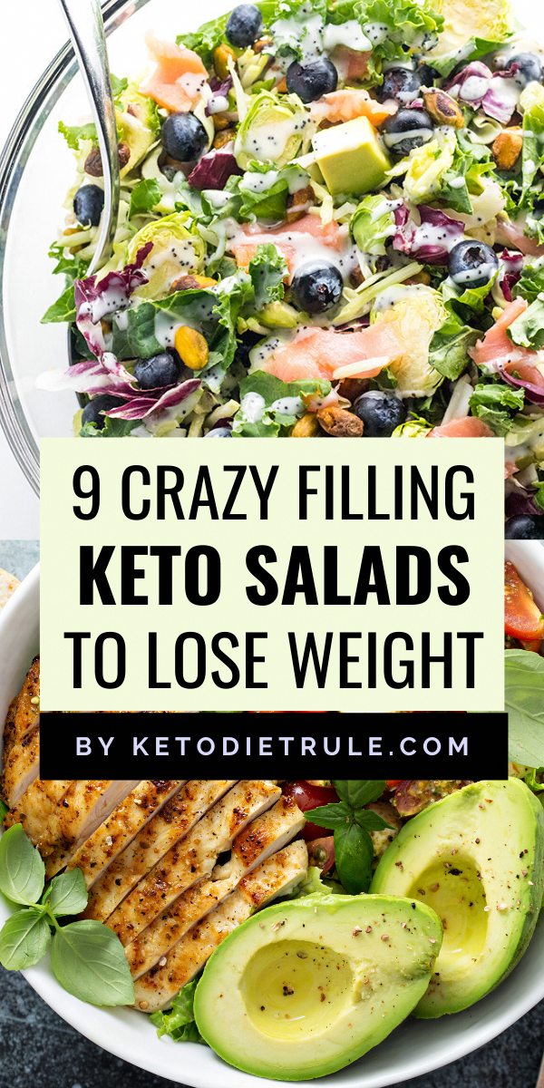 9 Crazy Filling Keto Salads to Lose Weight