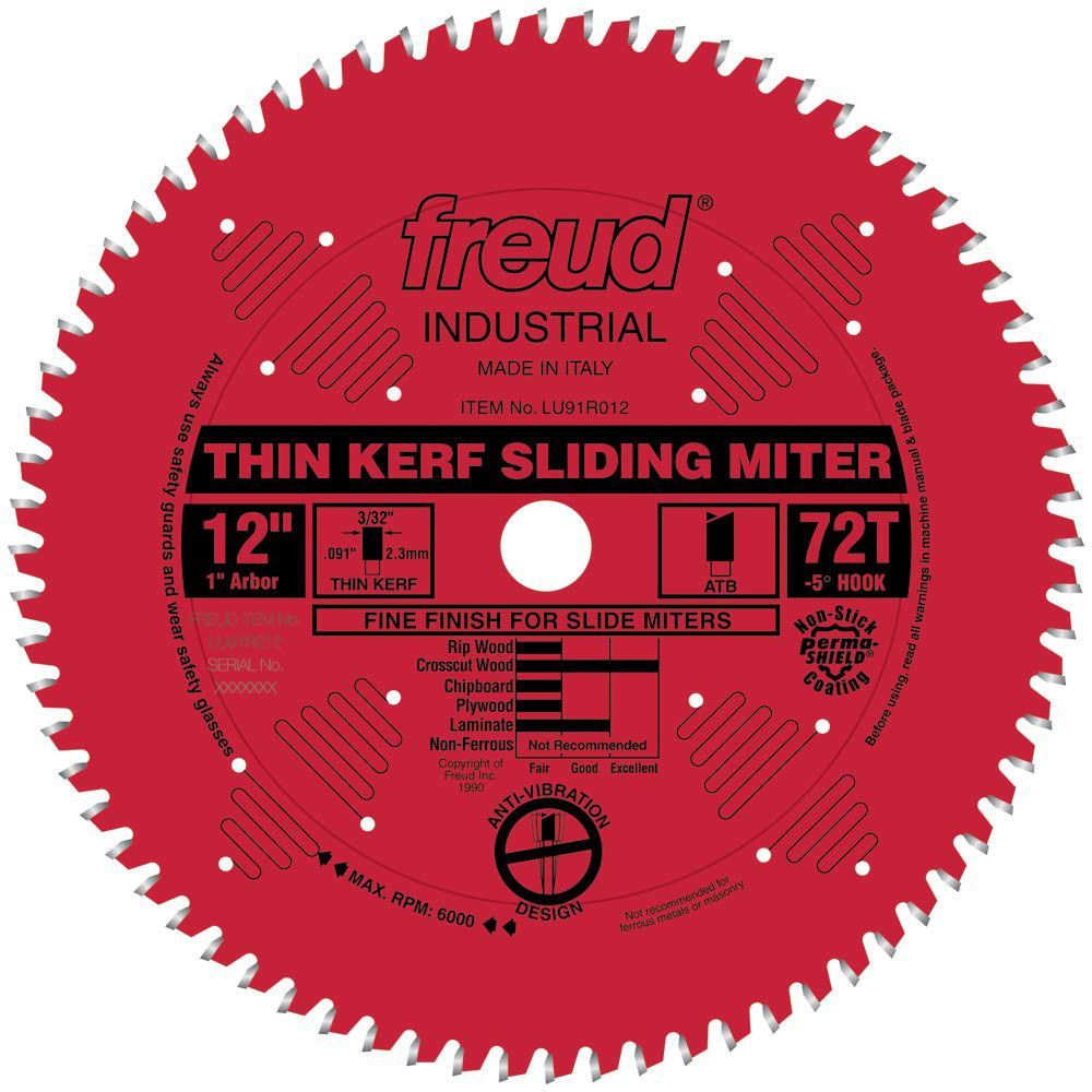 Freud Lu91r Thin Kerf Sliding Compound Miter Saw Blades Sliding Compound Miter Saw Circular Saw Blades Table Saw Blades