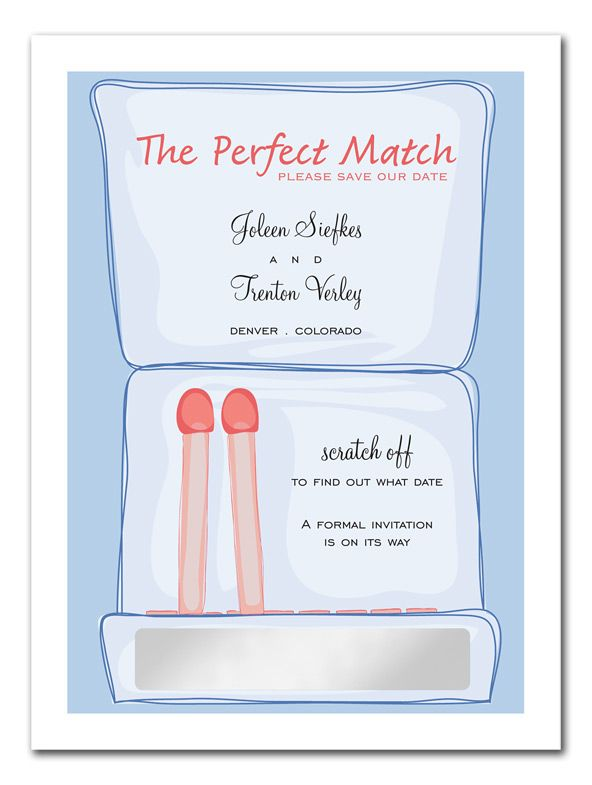 Perfect Match - Save the Date Announcements by Invitation Consultants. (Item # CC-NY99ET-93 )