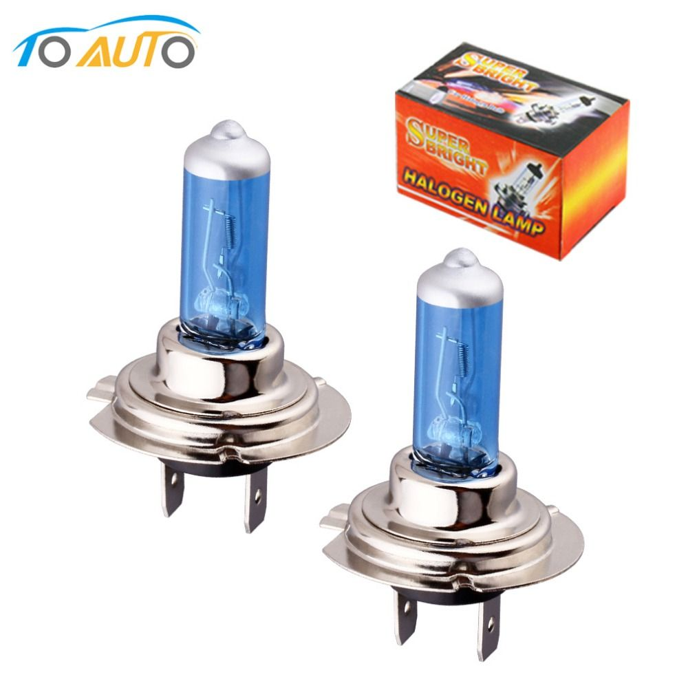 2 Pcs Feux De Voiture Voitures H7 Ampoule 55 W 6000 K Halogene Blanc Brouillard Halogene Ampoule Lampe De Voiture Lumiere 1 Car Lights Lamp Light Halogen Bulbs