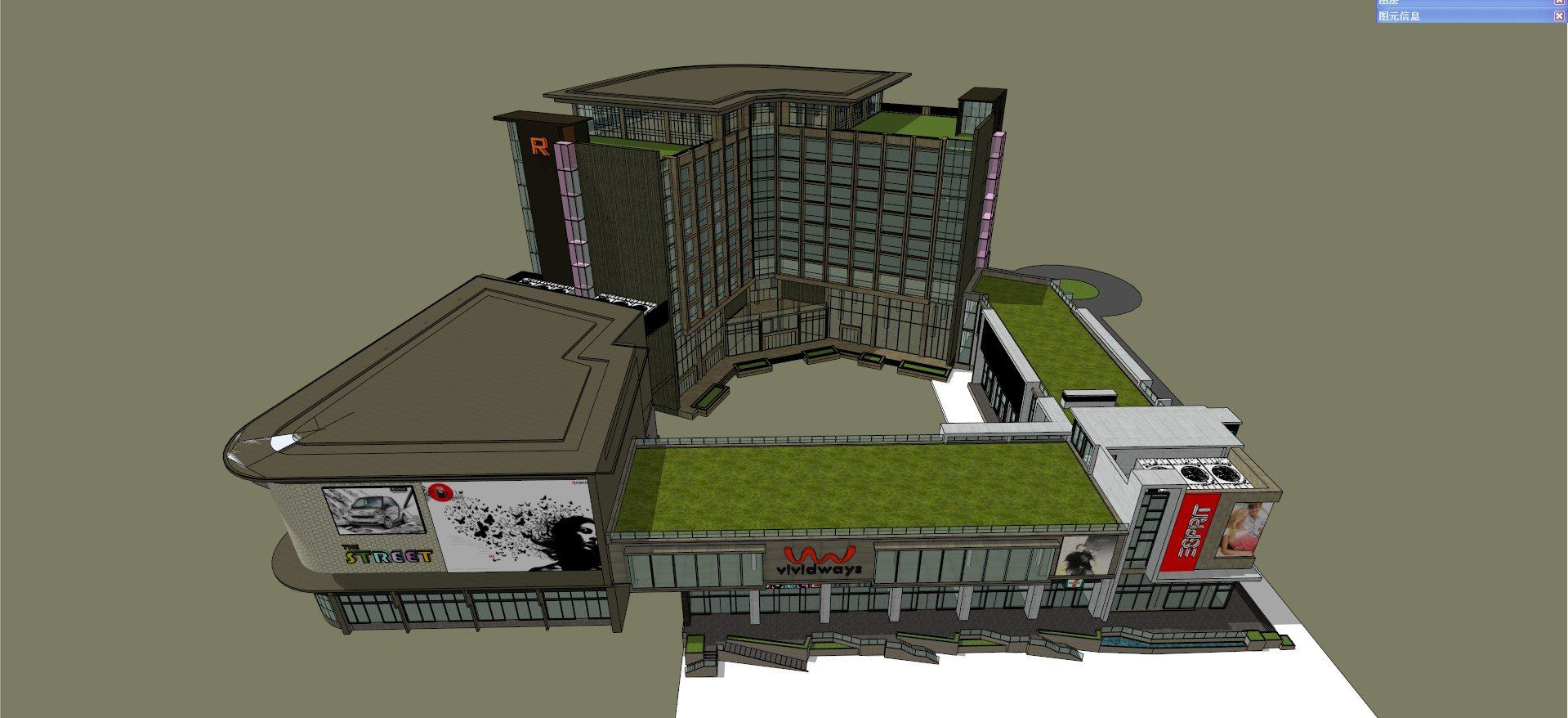 ☆Sketchup 3D Models-Business Building Sketchup Models 2