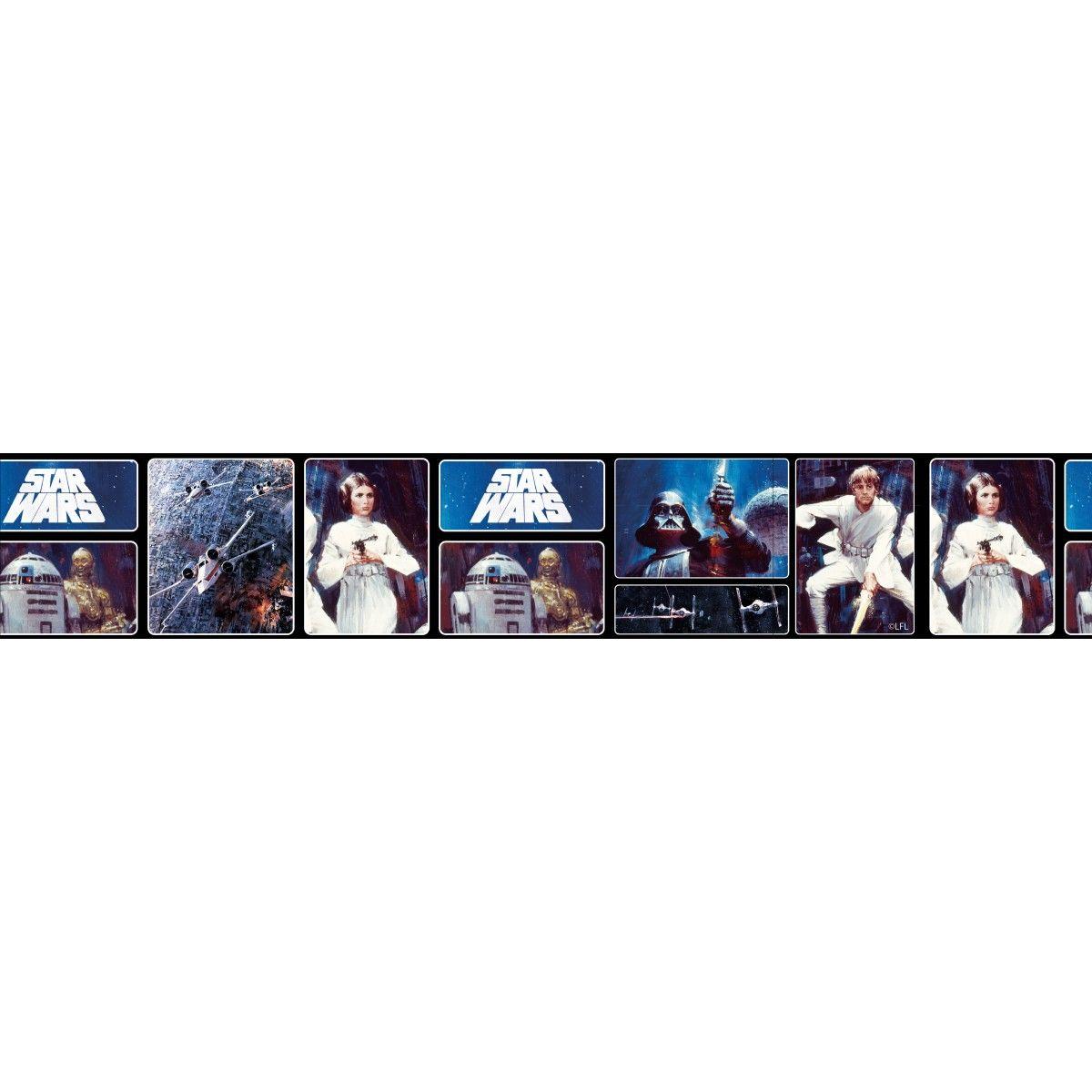 Star Wars Retro Self Adhesive Wallpaper Border 5m Self Adhesive Wallpaper Borders Star Wars Wallpaper Wallpaper Border